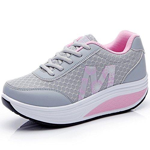 CN-Porter Women's Platform Leather Walking Sneakers