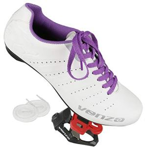 Venzo Bicycle Women's Ladies Lace Road Cycling Riding Shoes