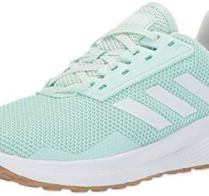 adidas Women's Duramo 9 Running Shoe, Clear White/ice Mint