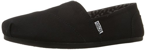 BOBS from Skechers Women's Plush Peace and Love Flat,Black