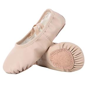 Dynadans PU Leather Ballet Shoes/Ballet Slippers/Dance Shoes (Toddler/Little/Big Kid/Women)-Nude-1.5M Little Kid