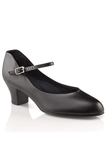 Capezio Women's Jr. Footlight Character Shoe,Black,8.5 M US