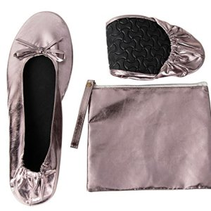 Foldable Ballet Flats - Women's Portable Ballerina Roll up Shoes