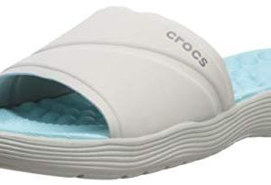 Crocs Women's Reviva Slide Sandal, Pearl White