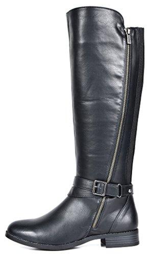 TOETOS Women's Donna Black Knee High Winter Riding Boots TOETOS Women's Donna Black Knee High Winter Riding Boots Size 11 M US.