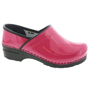 Bjork PRO ELSA Fuchsia Patent Leather Clogs