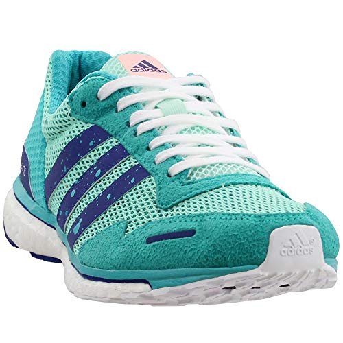 adidas Women's Adizero Adios 3 Running Shoe, Clear Mint/Mystery Ink/hi-res Aqua, 7 M US