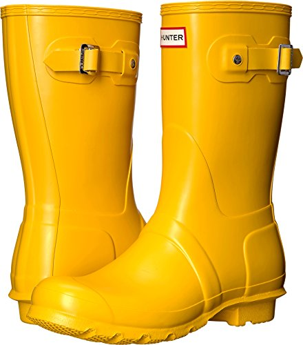 Hunter Womens Original Short Yellow 1 Rain Boot
