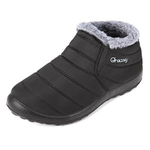 gracosy Warm Snow Boots, Winter Warm Ankle Boots,Fur Lining Boots