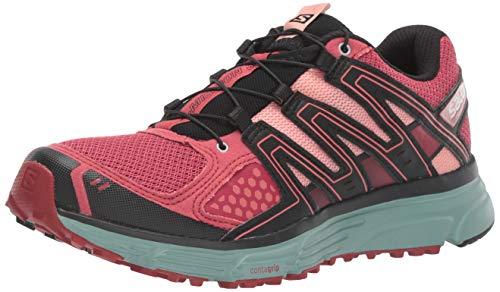 SALOMON Women's X-Mission 3 W Trail Running Shoe, Garnet Rose/Trellis/Coral Almond, 9.5 M US