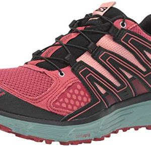 SALOMON Women's X-Mission 3 W Trail Running Shoe, Garnet Rose/Trellis/Coral Almond, 9.5 M US