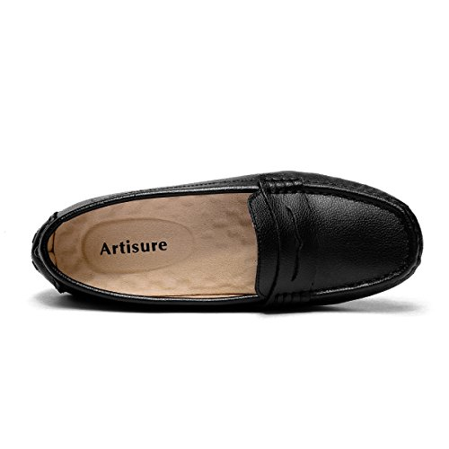 Artisure Women's Girls' Classic Handsewn Black Genuine Leather ARTISURE believes that vogue comes and goes, solely type stays. We hope to supply one of the best footwear available on the market at present. So we persist with our precept of buyer major and high quality first. ARTISURE displays a way of life that's appropriate for a variety of customers. The supply of our fashionable and concise life-style is the brand new sense of freedom, originality and creativity.