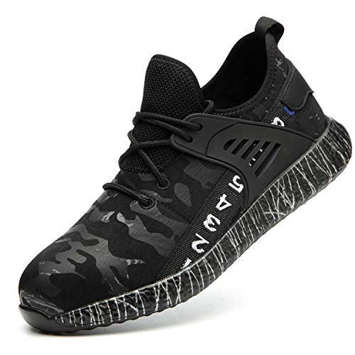 SUADEX Steel Toe Work Shoes Mens Womens, Steel Toe Sneakers