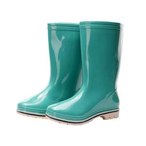 Kontai Womens Rain and Garden Boot Wellies Half Calf Rubber Waterproof