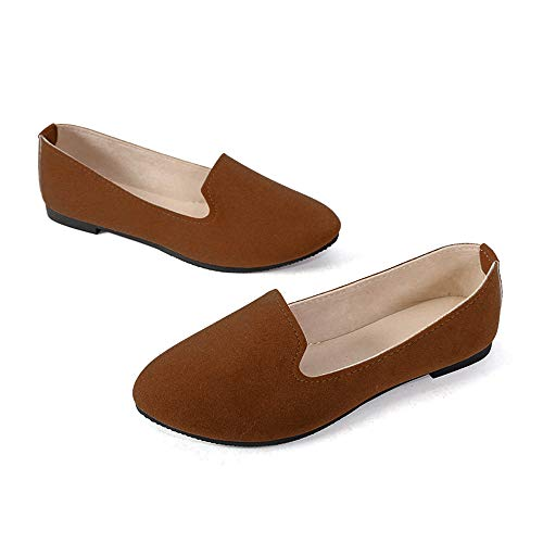 Stunner Women's Cute Round-Toe Flat Ballet Shoes Comfortable Dress Shoes