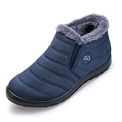Womens Winter Snow Boots Fur Lined Warm Ankle Boots Slip On
