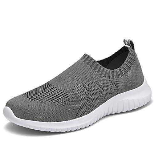 TIOSEBON Women's Walking Shoes Lightweight Mesh Slip-on-