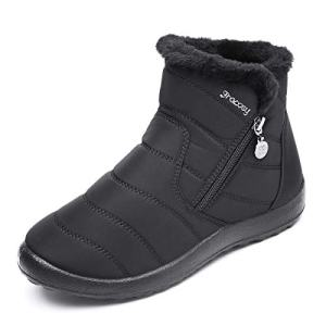 gracosy Warm Snow Boots, Women's Winter Ankle Bootie Anti-Slip