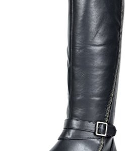 TOETOS Women's Donna Black Knee High Winter Riding Boots