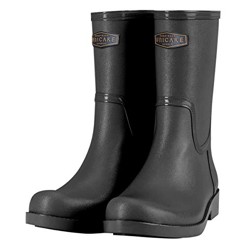 UNICARE Women's Mid-Calf Rain Boots Waterproof Rain Shoes