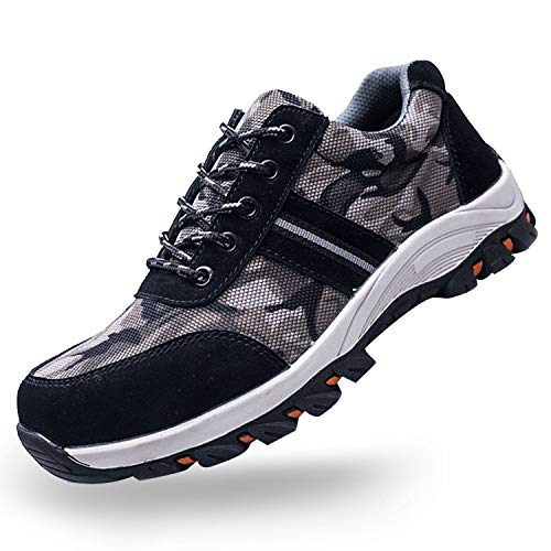 SUADEX Steel Toe Shoes Men, Womens Work Safety Shoes