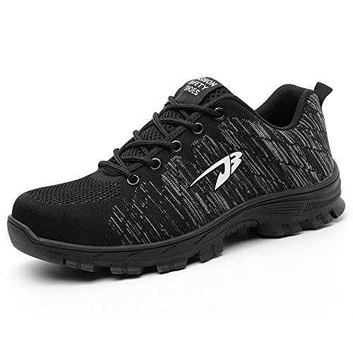 TICCOON Work Safety Shoes Puncture Proofed Footwear Steel Toe Shoes Men