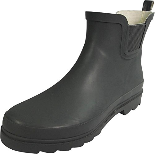 NORTY - Womens Ankle High Rain Boot, Matte Charcoal