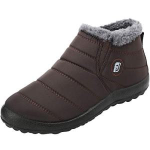 JOINFREE Mens Casual Winter Shoes Snow Boots Waterproof