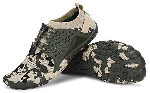 AMOCOCO Men's Women's Minimalist Trail Running Barefoot Shoes