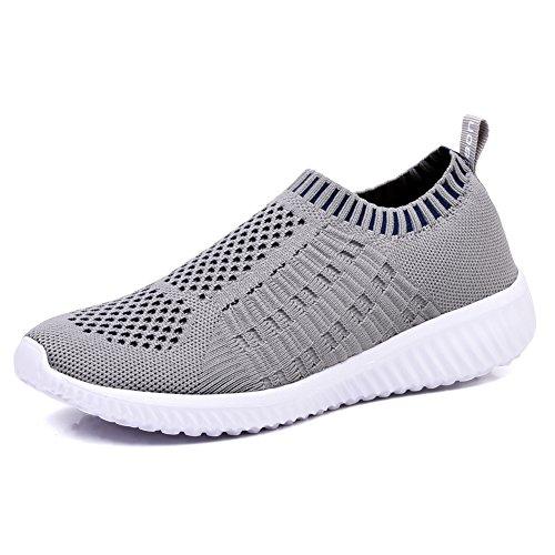 TIOSEBON Women's Athletic Walking Shoes Casual Mesh-Comfortable Work