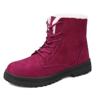 Winter Snow Boots for Women Suede Cotton Warm Fur Lined Ankle Boots