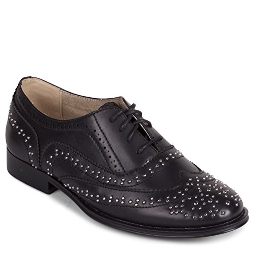 "Wanted ""Sibling Lace Up Oxford with Stud Detailing"