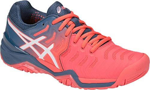 ASICS Gel-Resolution 7 Women's Tennis Shoe, Papaya/White
