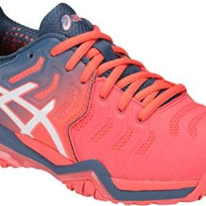 ASICS Gel-Resolution 7 Women's Tennis Shoe, Papaya/White