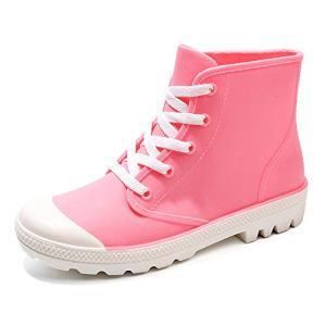 fazoc Women's Rain Shoes Short Ankle Boots Waterproof Anti Slip