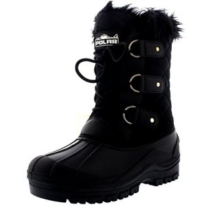 Polar Womens Mid Calf Mountain Walking Tactical Waterproof Boots