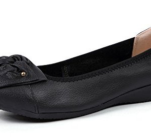 VenusCelia Women's Bows Dance Flat Shoe
