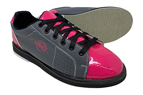 SaVi Bowling Women's Classic Pink/Grey Bowling Shoes