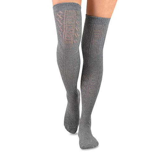 TeeHee Women's Fashion Over the Knee High Socks - 3 Pair Combo TeeHee Women's Fashion Over the Knee High Socks - 3 Pair Combo Our Factory gives a extra steady and stretchy end than primary weaves, breathable, absorbent, and deodorizing! Cute Designer Fashion Over The Knee Socks, High high quality supplies gives a extra steady and stretchy end than primary weaves, breathable, absorbent, and deodorizing! Quality Guarantee: Contact us for any issues you may encounter and we'll do all we are able to to assist! Sizing Guidelines: Women's One Size match for All (US Women's Shoe Sizes 6-10), Imported, Machine Washable. TeeHee Women's Fashion Over the Knee High Socks - 3 Pair Combo (Delicated Pattern).
