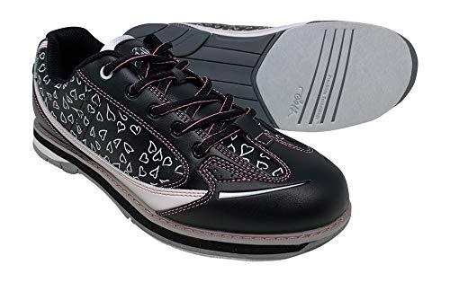 SaVi Bowling Women's Vienna Hearts White/Black/Pink Bowling Shoes