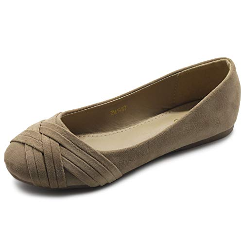 Ollio Women's Ballet Shoe Cute Casual Comfort Flat