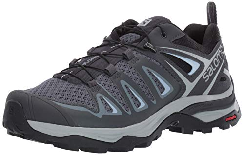 SALOMON Women's X Ultra 3 W Hiking Shoe, Stormy Weather/Ebony/Cashmere