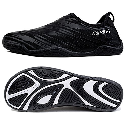 AMAWEI Mens Womens Water Shoes Barefoot Quick Dry Beach Swim Sports