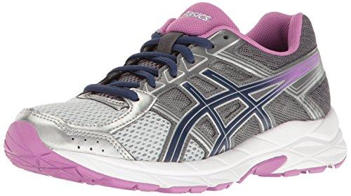 ASICS Women's Gel-Contend 4 Running Shoe, Silver/Campanula/Carbon, 10 M US