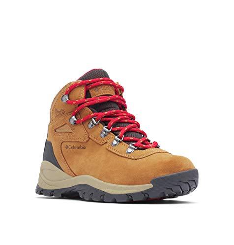 Columbia Women's Newton Ridge Plus Hiking Boot, Elk/Mountain Red