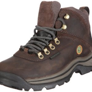 TimberlanD Women's White LeDge MiD Ankle Boot,Dark Brown