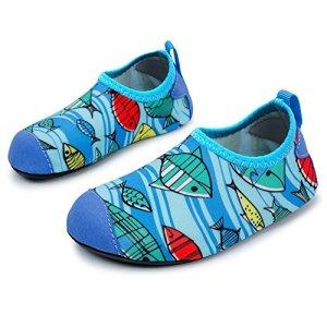 L-RUN Kids Water Aqua Shoes Beach Swim Shoes for Pool Sand Blue