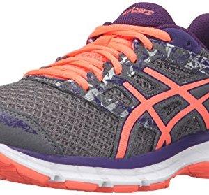 ASICS Women's Gel-Excite 4 Running Shoe, Shark/Flash Coral/Parachute Purple