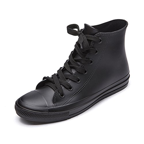 DKSUKO Women's Rain Boots Waterproof High Top Rain Shoes
