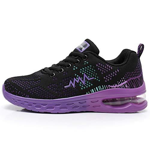 JARLIF Women's LT 2 Road Running Sneakers Fashion Sport Air JARLIF Women's LT 2 Road Running Sneakers Fashion Sport Air Fitness Workout Gym Jogging Walking Shoes (8 B(M) US, PurpleBlack).